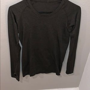 Lululemon Olive Green Long Sleeve Shirt